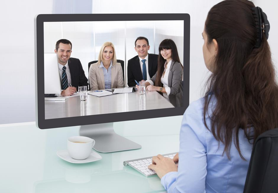 Businesswoman Watching Video Conference | Autor :