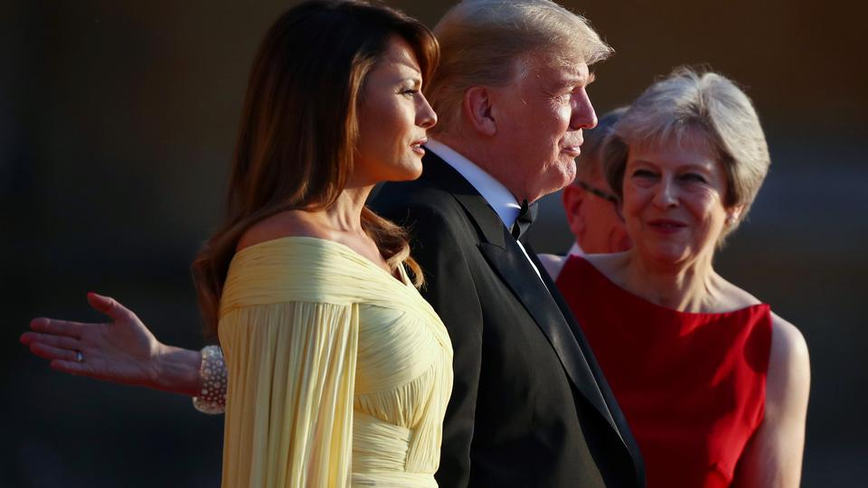 Melania Trump, Donald Trump i Theresa May