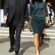 David Gilmour and wife Polly Samson, the parents of Charlie Gilmour, leave the Royal Courts of Justice, London, after hearing a plea on behalf of their son for a cut in his 16-month jail sentence for going on a drink and drug-fuelled rampage at a student