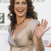'Actress Andie MacDowell poses for photographers as she arrives for an award ceremony in Zwentendorf in Lower Austria July 24, 2009. MacDowell is host for the SAVE THE WORLD AWARD 2009 ceremony tonigh