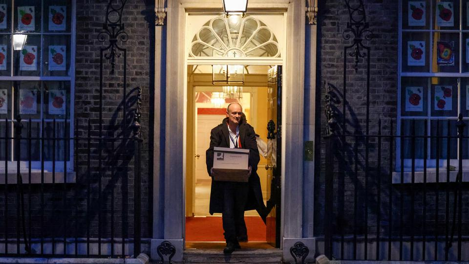 Dominic Cummings, special advisor for Britain's Prime Minister Boris Johnson leaves 10 Downing Street, in London