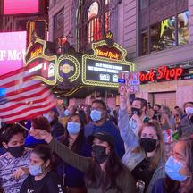 New Yorkers Celebrate the Biden/Harris Victory in Times Square