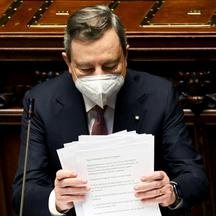 Italy's Draghi presents recovery plan to parliament in Rome