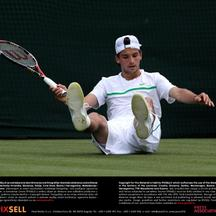 'Bulgaria\'s Grigor Dimitrov looks dejected during his match with France\'s Jo Wilfried Tsonga on day four of the 2011 Wimbledon Championships at the All England Lawn Tennis and Croquet Club, Wimbledo