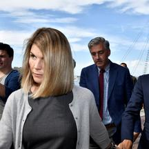 FILE PHOTO: Actress Lori Loughlin, and her husband, fashion designer Mossimo Giannulli leave the federal courthouse after a hearing on charges in a nationwide college admissions cheating scheme in Boston