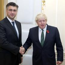 Andrej Plenković i Boris Johnson