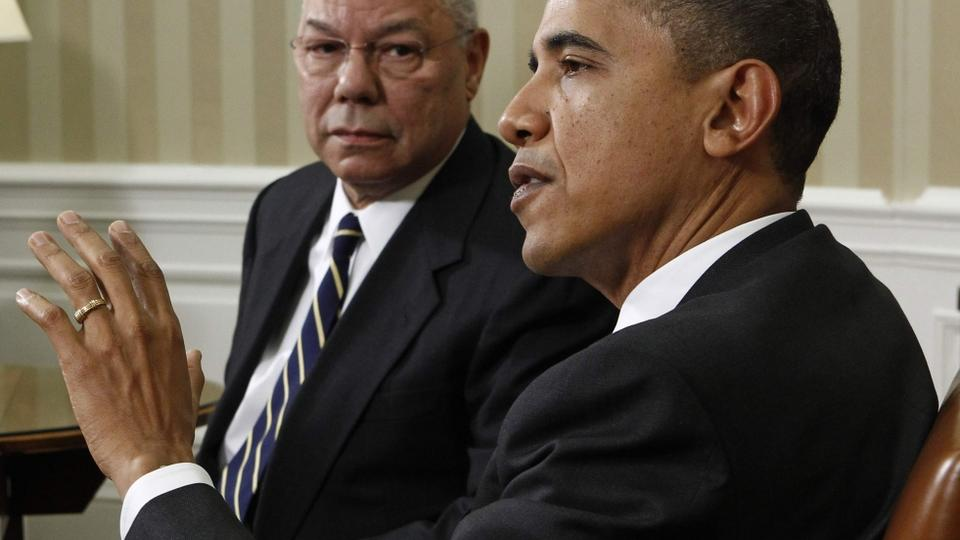 Barack Obama i Colin Powell