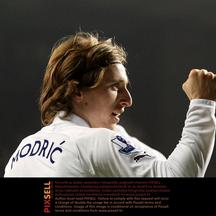 'Tottenham Hotspur\'s Luka Modric celebrates scoring his sides\' second goal  Photo: Press Association/Pixsell'