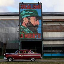 A painting of Cuba's former president Fidel Castro is seen at a factory in Havana, Cuba November 26, 2016. REUTERS/Enrique De La Osa FOR EDITORIAL USE ONLY. NO RESALES. NO ARCHIVES