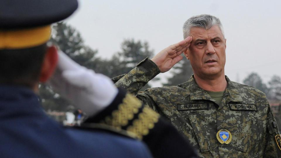 FILE PHOTO: Kosovo's President Hashim Thaci attends a ceremony of security forces