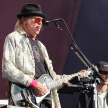 Bob Dylan and Neil Young at Hyde park,