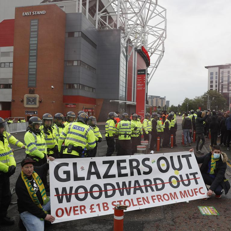 Manchester United v Liverpool - Fan Protests - Old Trafford