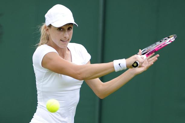 Croatia's Petra Martic in action against Germany's Sabine Lisicki during day one of the 2012 Wimbledon Championships at the All England Lawn Tennis Club, Wimbledon.  Photo: Press Association/PIXSELL