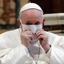 FILE PHOTO: Pope Francis joins inter-religious prayer service for peace in Rome church