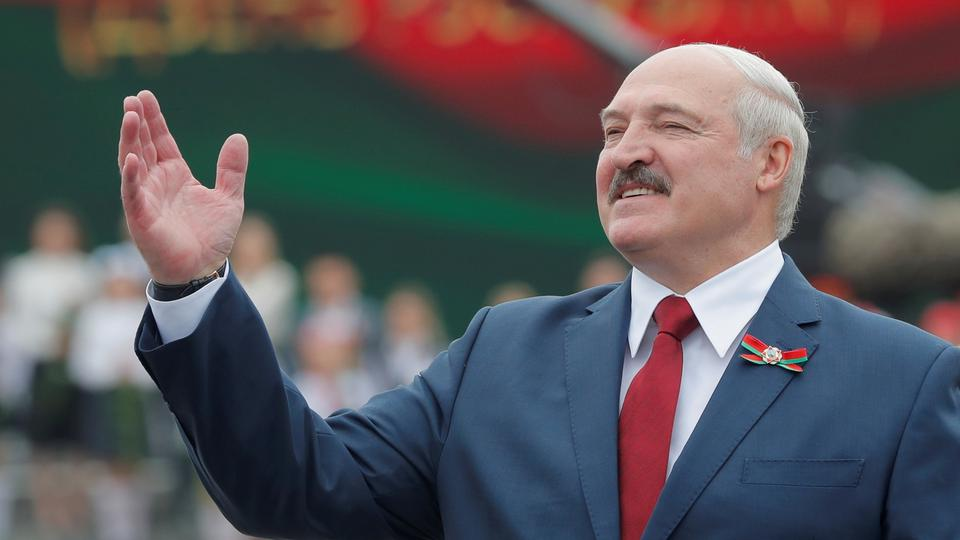 FILE PHOTO: Belarusian President Lukashenko takes part in the celebrations of Independence Day in Minsk