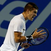 Tennis - Mexican Open - Men's Singles - Second Round Tennis - Mexican Open - Men's Singles - Second Round - Acapulco, Mexico 01/03/17. Croatia's Borna Coric in action against compatriot Marin Cilic. REUTERS/Henry Romero HENRY ROMERO