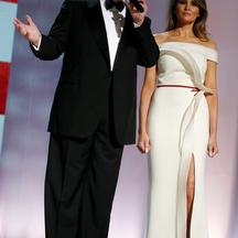 Trump attends the Liberty Ball in honor of his inauguration in Washington U.S. President Donald Trump and first lady Melania Trump attend the Liberty Ball in honor of his inauguration in Washington, U.S. January 20, 2017.  REUTERS/Jonathan Ernst JONATHAN