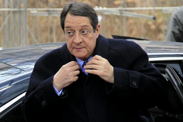 'Cyprus\' President Nicos Anastasiades arrives at a European Union (EU) leaders summit in Brussels March 15, 2013. EU leaders agreed on Thursday to focus government spending on investment that support