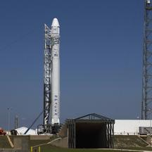 'The SpaceX Falcon 9 test rocket is being prepared for launch from Complex 40 at the Cape Canaveral Air Force Station in Florida May 18, 2012. An Obama administration plan to cut the cost of spaceflig
