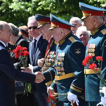 Russia's President Putin attends a wreath-laying ceremony in Moscow