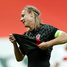FILE PHOTO: Croatia's Domagoj Vida plays first half of Turkey clash with COVID-19