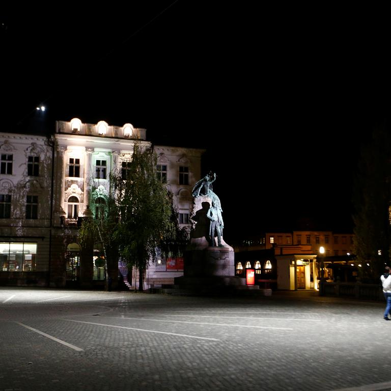 Slovenia starts a nightly curfew from 9 p.m. to 6 a.m as to curb the rising of the coronavirus disease (COVID-19) cases in the country, in Ljubljana