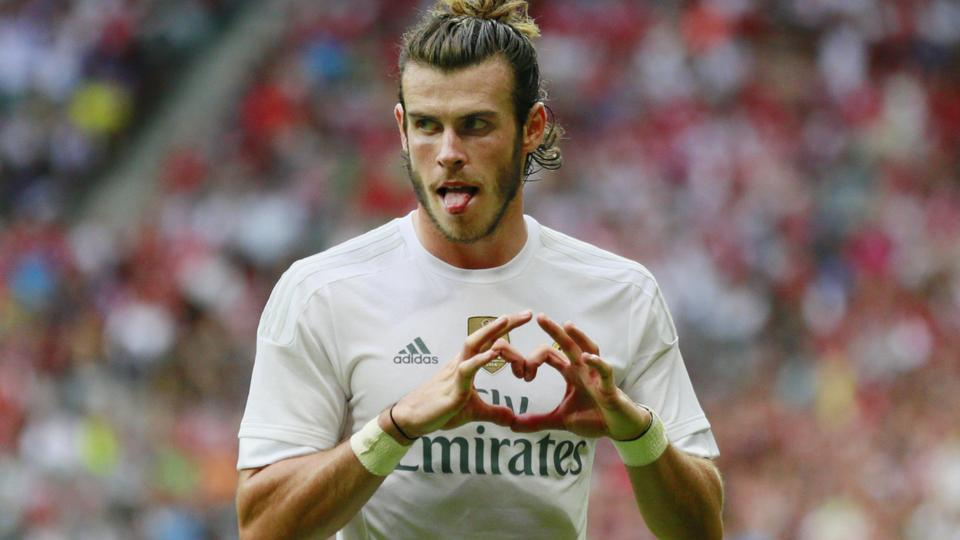 Football - Real Madrid v Tottenham Hotspur - Audi Cup Semi Final - Pre Season Friendly Tournament - Allianz Arena, Munich, Germany - 4/8/15 Gareth Bale celebrates after scoring the second goal for Real Madrid Action Images via Reuters / Jason Cairnduff Li