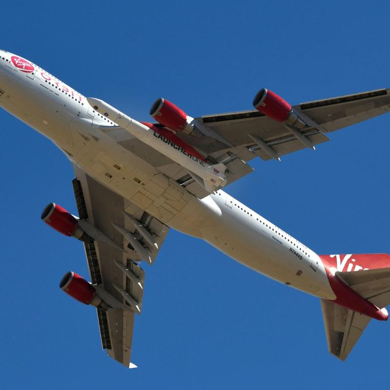 Richard Branson's Virgin Orbit test high-altitude launch system, in Mojave