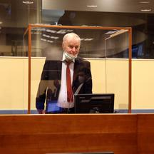 Former Bosnian Serb military leader Ratko Mladic attends his appeal hearing in The Hague