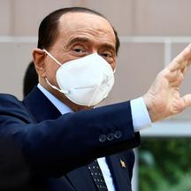 FILE PHOTO: Former Italian Prime Minister Silvio Berlusconi is discharged from Milan's San Raffaele hospital