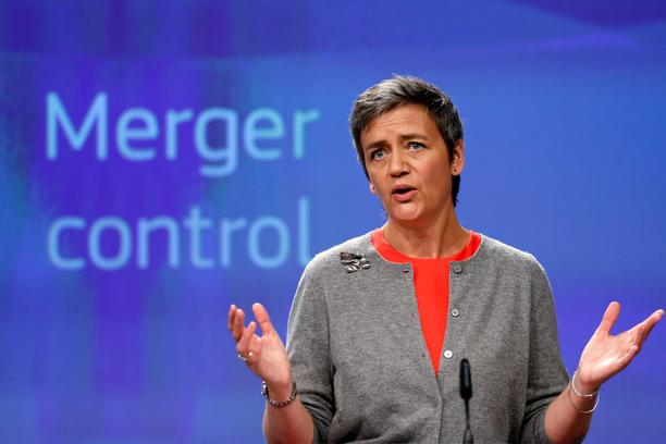 EU Commissioner Vestager holds a news conference in Brussels European Competition Commissioner Margrethe Vestager holds a news conference at the EU Commission's headquarters in Brussels, Belgium, April 5, 2017. REUTERS/Francois Lenoir FRANCOIS LENOIR