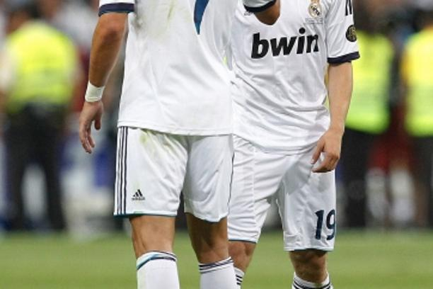 'Real Madrid\'s Cristiano Ronaldo and Luka Modric during Spanish Supercup 2nd match on august 29 2012...Photo: Cebola / Cid-Fuentes / Foto © nph *** Local Caption ***'