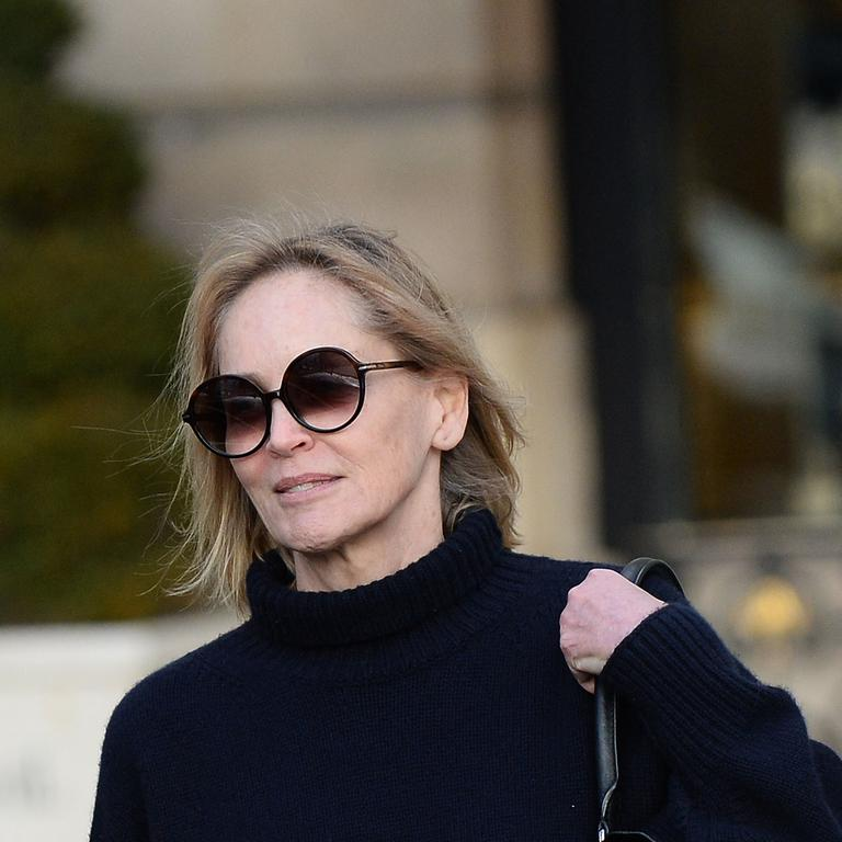 Sharon Stone in Paris on Wednesday