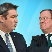 Power struggle between Markus SOEDER and Armin LASCHET.