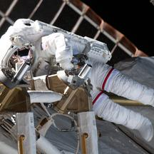 Spacewalk Outside Of ISS