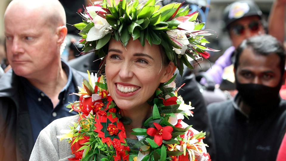 FILE PHOTO: FILE PHOTO: New Zealand Prime Minister Ardern greets supporters in Auckland