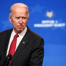 U.S. President-elect Joe Biden speaks after meeting with governors in Wilmington, Delaware