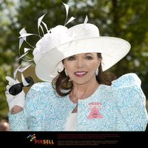 'Joan Collins on ladies day of Royal Ascot held at Ascot racecourse, Berkshire. Photo: Press Association/Pixsell'