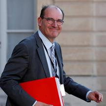 "FILE PHOTO: French government ""deconfinement"" coordinator Jean Castex leaves the Elysee Palace in Paris"