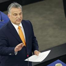 Hungarian Prime Minister Viktor Orban delivers a speech during a debate on the situation in Hungary at the European Parliament in Strasbourg, France, May 19, 2015.  REUTERS/Vincent Kessler