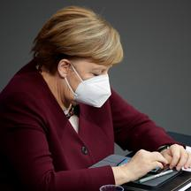 German Chancellor Angela Merkel delivers a speech on the government's response to the coronavirus disease (COVID-19) pandemic in Berlin