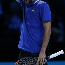 Tennis - Barclays ATP World Tour Finals - Day Four - O2 ArenaMarin Cilic reacts whilst competing against Tomas Berdych during the Barclays ATP World Tour Finals at The O2 Arena, London.Jonathan Brady Photo: Press Association/PIXSELL