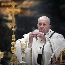 Pope Francis celebrates Mass on the feast of the Epiphany